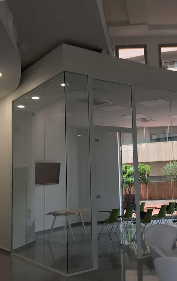 Mampara de cristal interglass