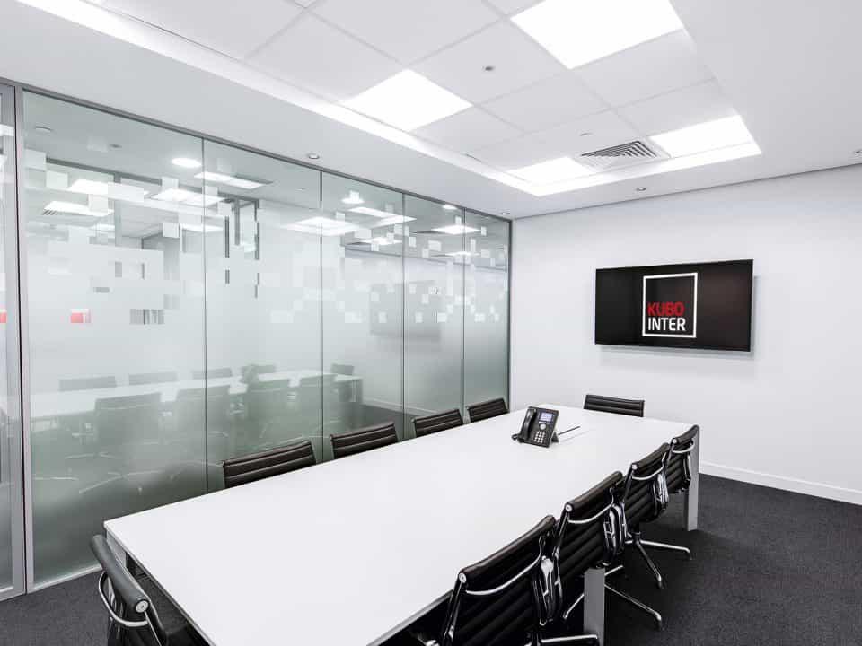 Mamparas de cristal para oficinas